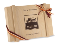 FIGS COVERED IN CHOCOLATE - WOODEN BOX 400g []